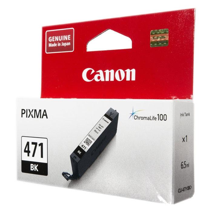 Картридж Canon CLI-471 BK Чёрный. 398 страниц.