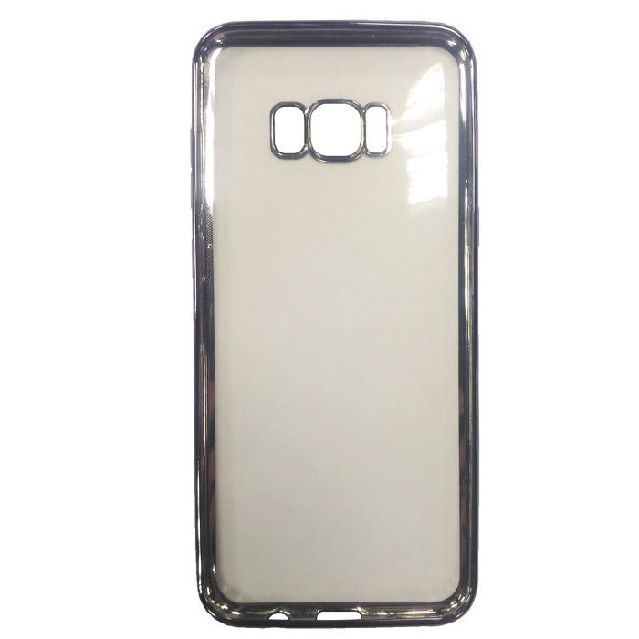 Чехол Gecko Силиконовая накладка для Samsung Galaxy S8+ SM-G955, черная рамка