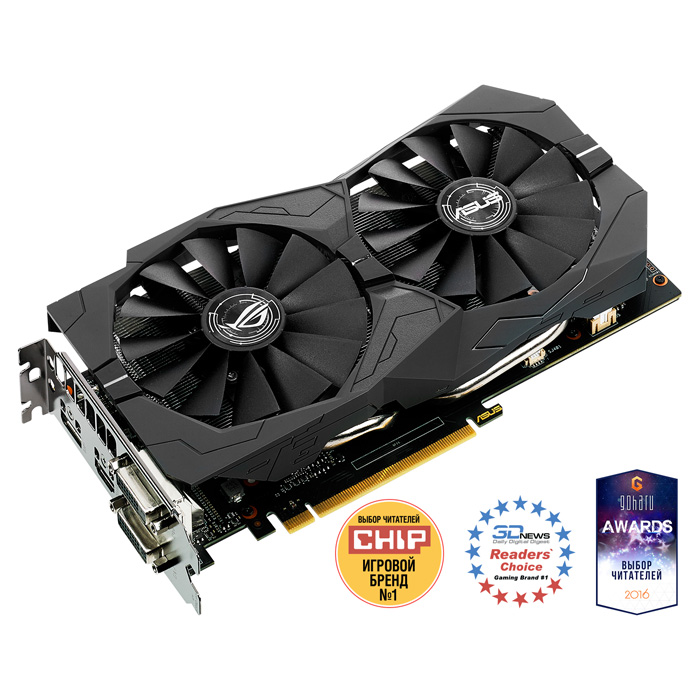 Видеокарта PCI-E ASUS GeForce GTX 1050 2048Mb, DDR5 ( Strix-GTX1050-O2G-Gaming ) Ret