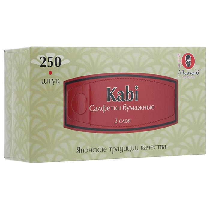 Бумажные салфетки Maneki Kabi бумажные белые 2 слоя 250шт/коробка