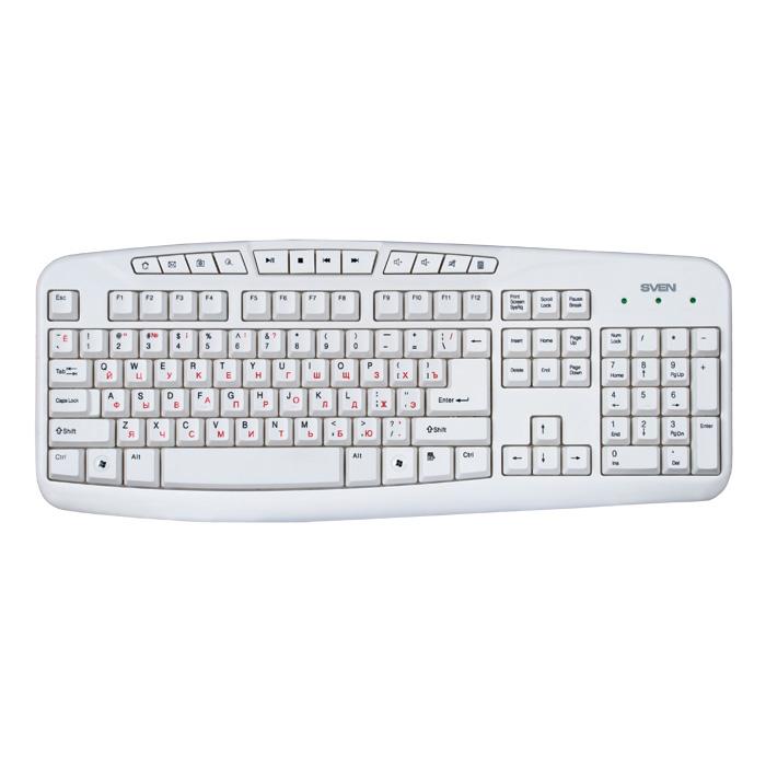 Клавиатура SVEN 3050 Comfort USB White