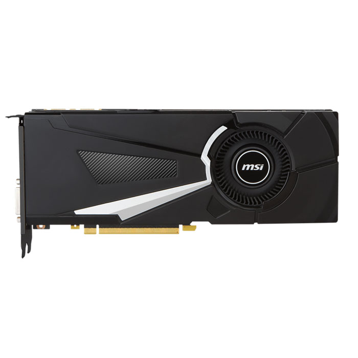 Видеокарта PCI-E MSI GeForce GTX 1080 8192Mb, Aero 8G OC GDDR5 Ret