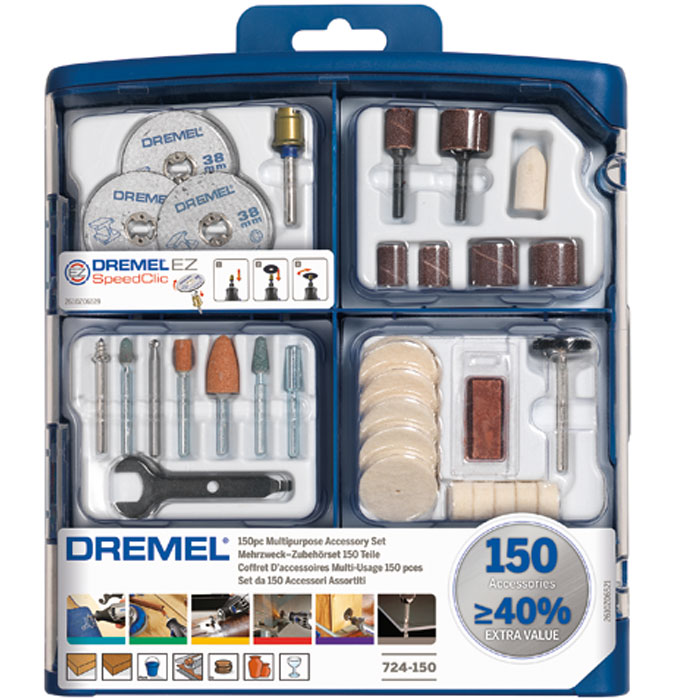 Набор насадок многофункциональных 150 предметов Dremel 724 2615S724JA