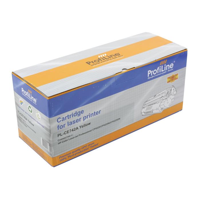 Картридж ProfiLine PL-CE742A Yellow