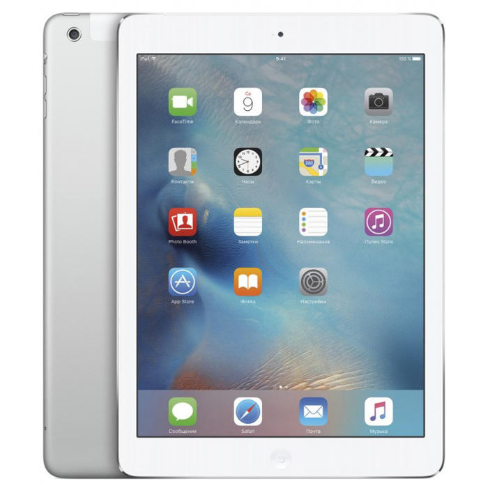 "Планшетный компьютер 9.7"" Apple iPad Air 2, 32Гб Flash, Cellular, Silver (MNVQ2RU/A)"