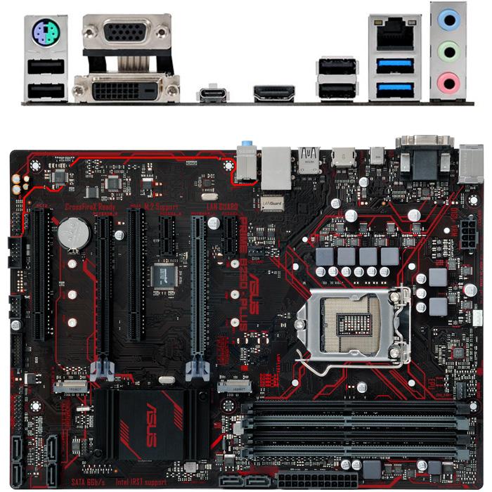 Материнская плата ASUS B250 LGA1151 DDR4 ( Prime B250-Plus ) ATX, Ret