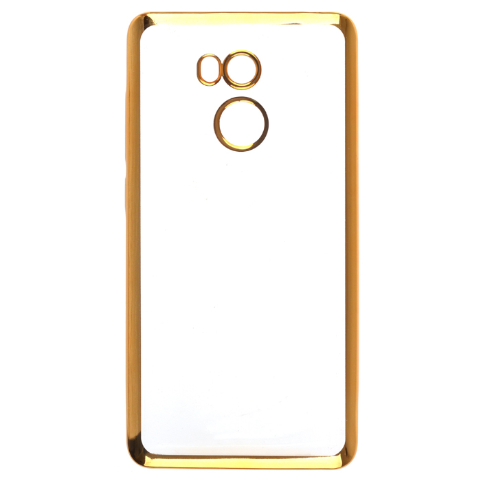 Чехол SkinBox 4People silicone chrome border для Xiaomi Redmi 4, золотистый