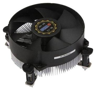 Устройство охлаждения(кулер) Titan 1156/1155/1150/1151 75Вт,95×25 KUKRI fan, 20dBa,Push-Pin, низкопрофильный ( DC-156V925X/R/CU25 )