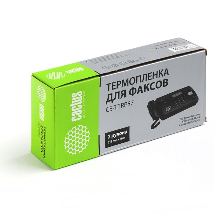 Термопленки CACTUS для факсов Panasonic KXF-A57A ( CS-TTRP57 )