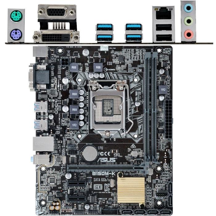 Материнская плата ASUS B150 LGA1151 DDR4 ( B150M-K ) mATX, Ret