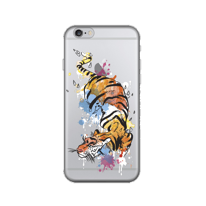 Чехол Deppa Art Case с пленкой для iPhone 6 / iPhone 6s, Animal, Тигр