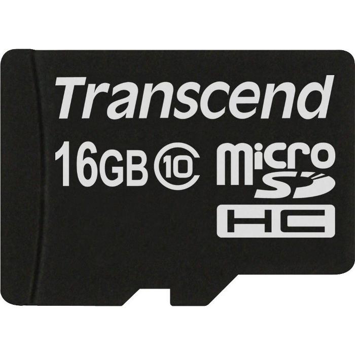 Флеш-карта microSDHC 16Гб Transcend , Class 10 ( TS16GUSDC10 )