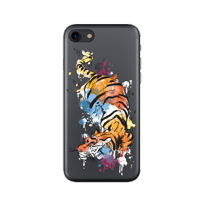 Чехол Deppa Art Case с пленкой для iPhone 7, Animal, Тигр