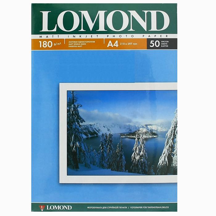 Фотобумага A4 Lomond 180гр, 50л Матовая, 1стор.( 102014 )