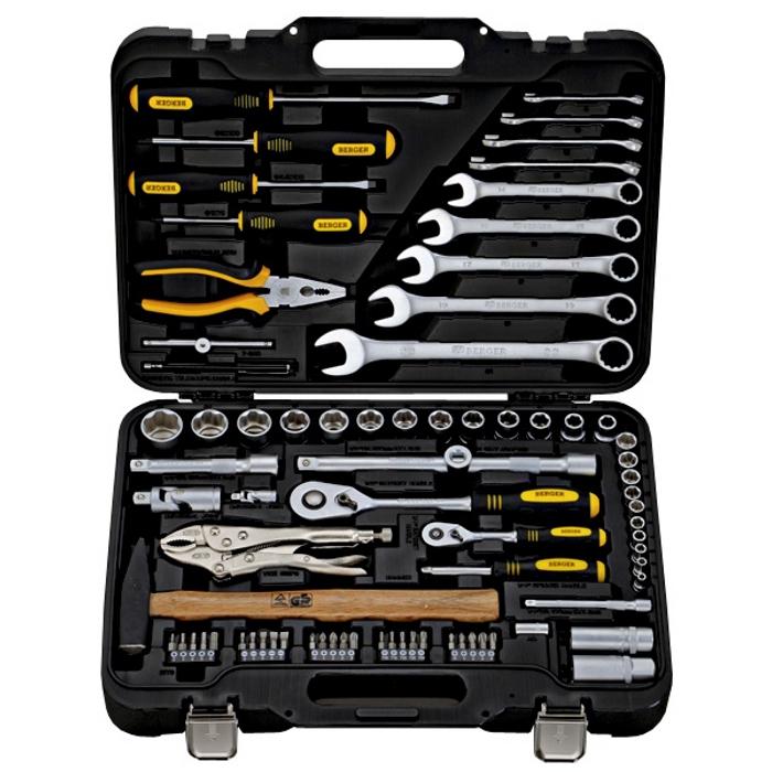 Универсальный набор инструментов 78 предметов Berger BG078-1214