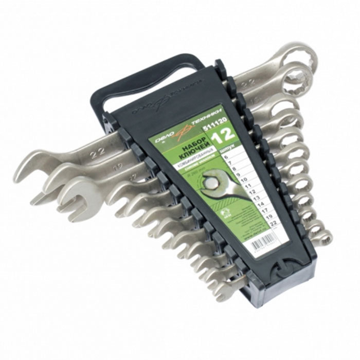 Набор ключей комбинированных 12 предметов на холдере Дело Техники 511120