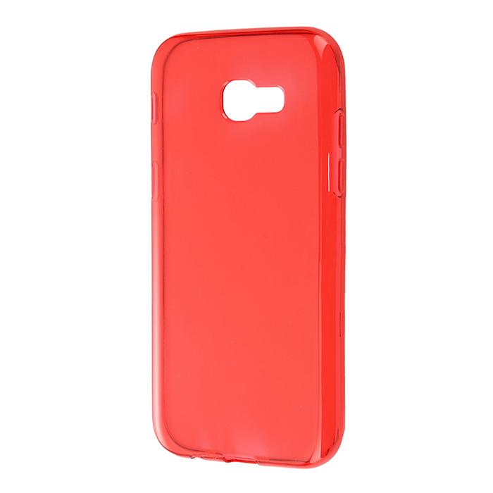 Чехол Gecko Силиконовая накладка для Samsung Galaxy A3 (2017) SM-A320F, прозрачно-глянцевая, красная