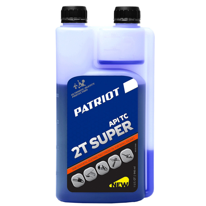 Масло 2-х тактное с дозатором PATRIOT 850030569 Super Active 2T 0,946л