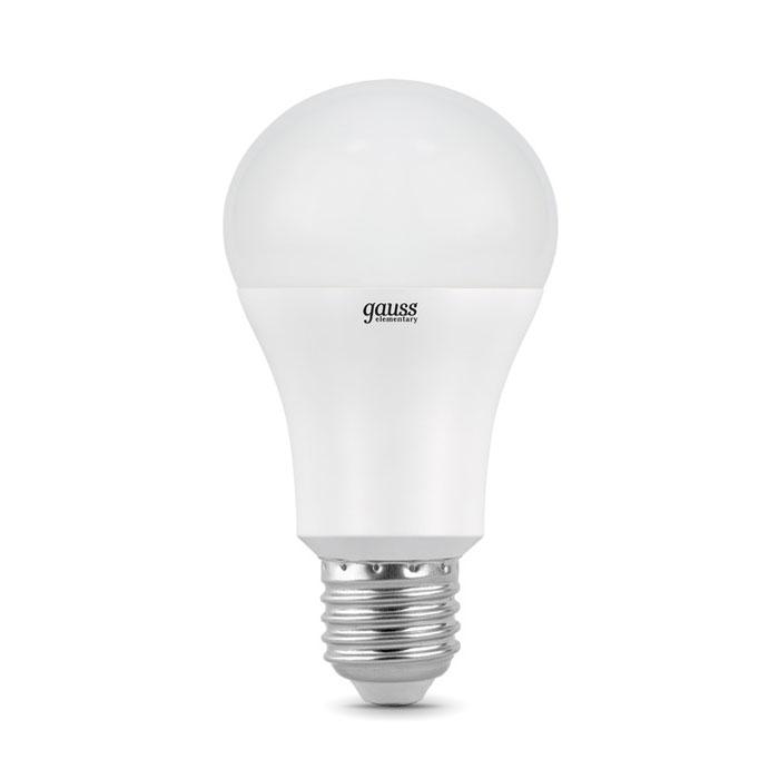 Светодиодная лампа Gauss Elementary A60 E27 15W 220V белый свет
