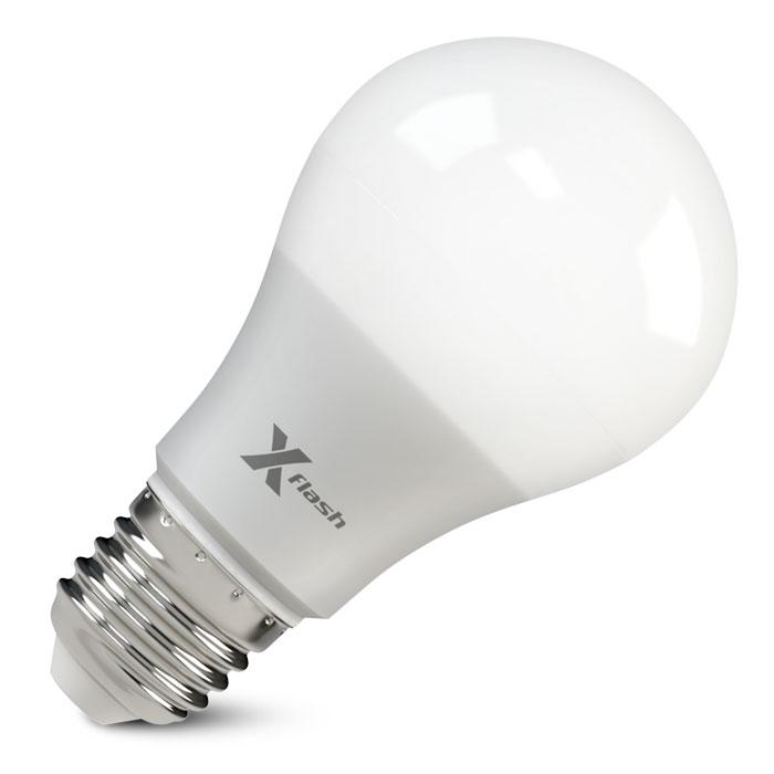 Светодиодная LED лампа X-flash Globe A65 E27 8W 12V желтый свет