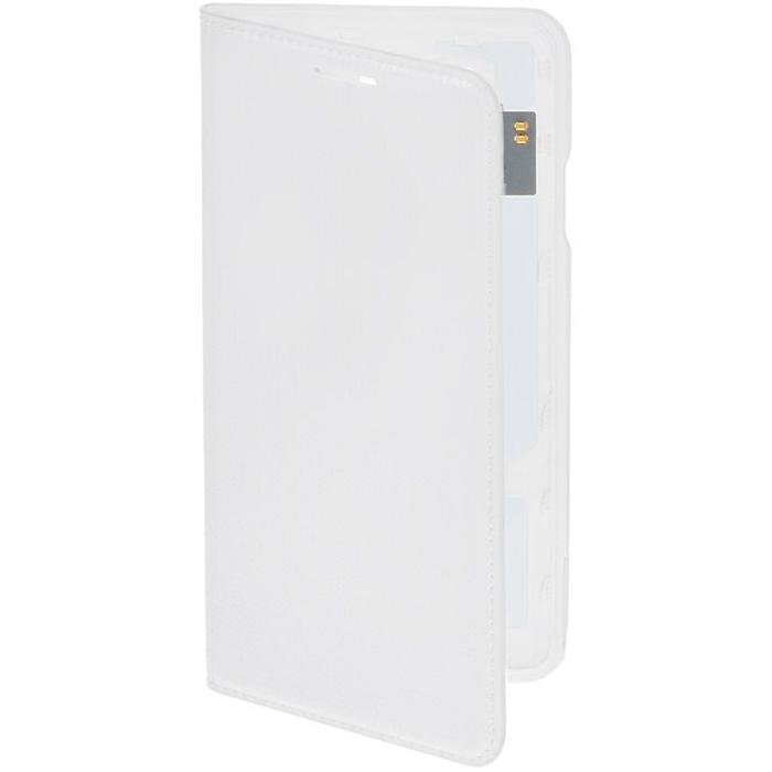 Чехол Samsung Flip Cover для Galaxy Alpha G850, белый