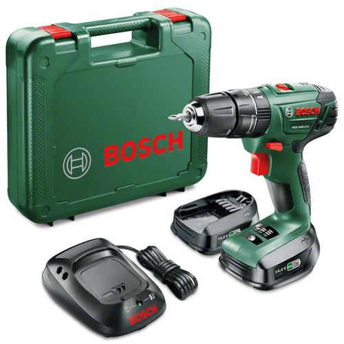 Аккумуляторная ударная дрель-шуруповерт Bosch PSB 1440 LI-2 1.5Ah x2 Case 06039A3221