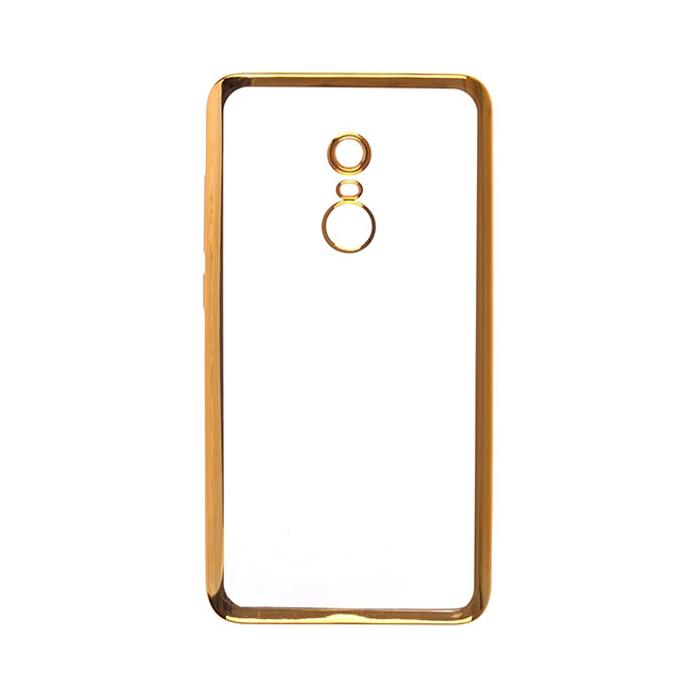 Чехол SkinBox 4People silicone chrome border для Xiaomi Redmi Note 4, золотистый