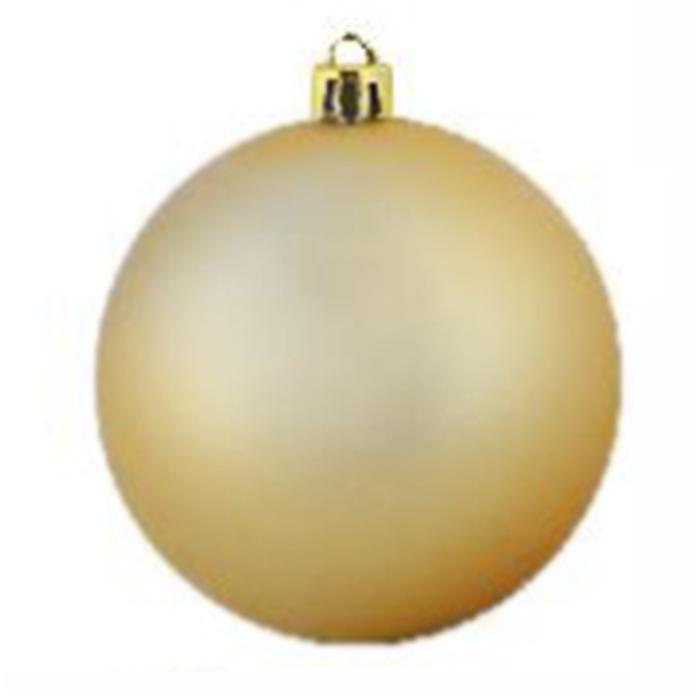 Нов игрушка шар пластик мат.d=6см  6шт в пакете золотой