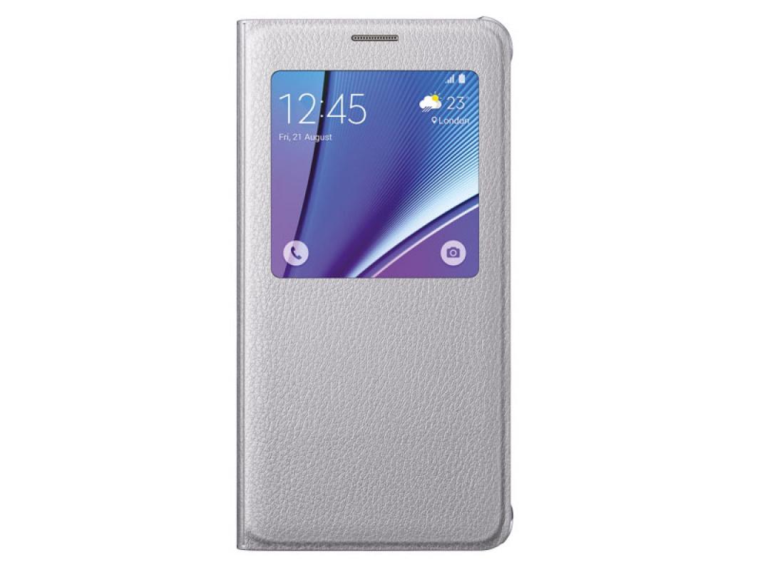 Чехол Samsung S View Cover для Samsung Galaxy Note 5 N920, серебристый
