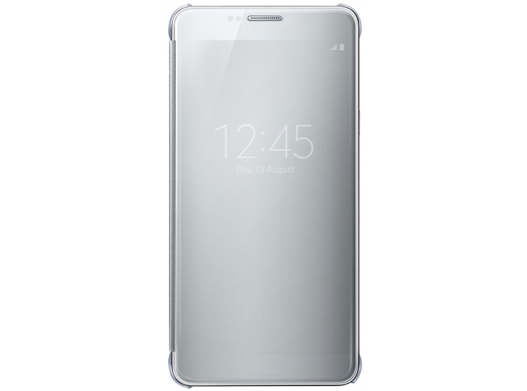 Чехол Samsung ClearView для Samsung Galaxy Note 5 N920, серебристый