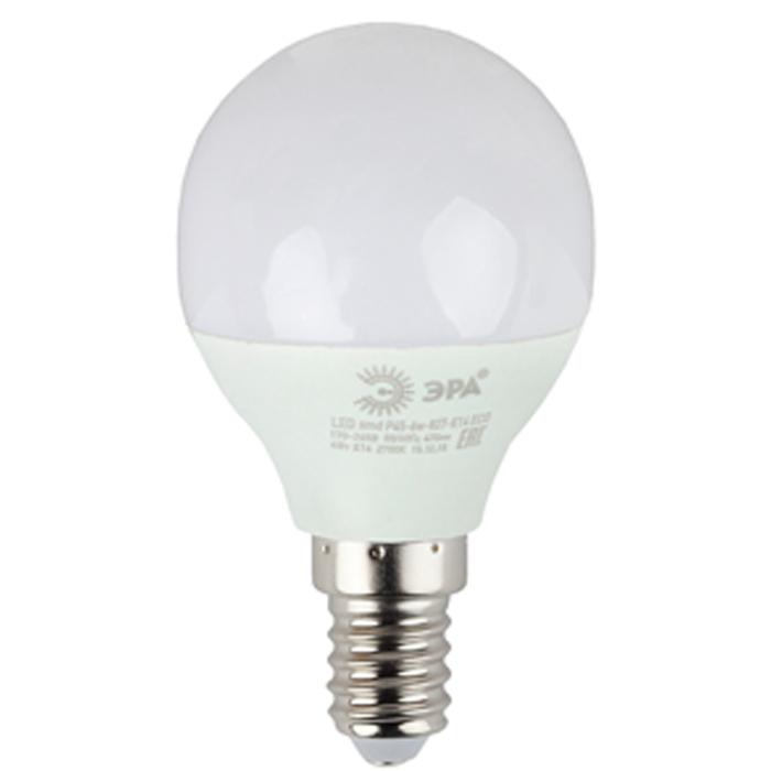 Светодиодная лампа ЭРА P45 E14 6W 220V ECO белый свет