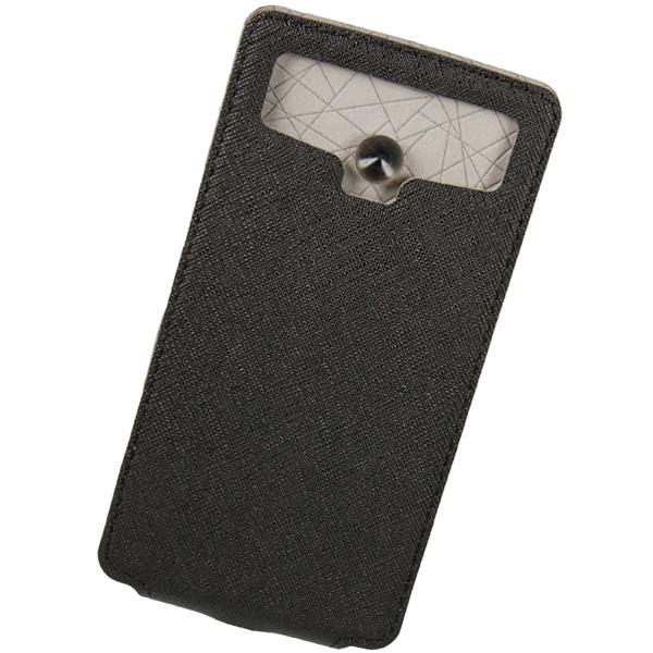 Чехол универсальный для сотовых телефонов 4.2″ Partner Flip-case, черный