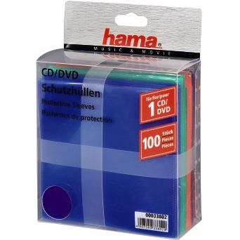 Конверт Hama H-33802 для CD 100шт. цветные