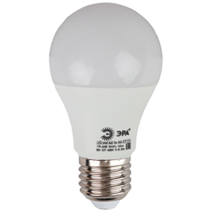 Светодиодная лампа ЭРА A60 E27 8W 220V ECO желтый свет