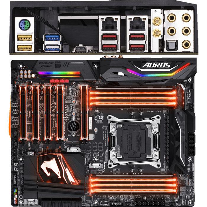 Материнская плата Gigabyte X299 LGA2066 DDR4 ( GA-X299 Gaming 7 AORUS ) ATX Ret