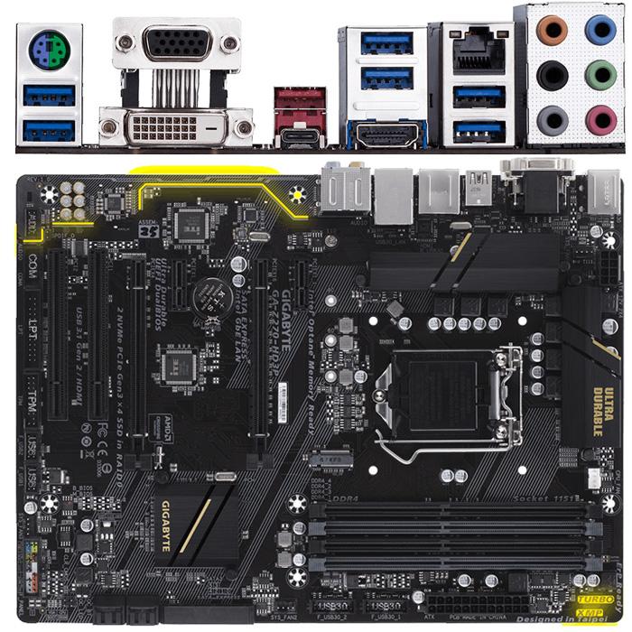 Материнская плата Gigabyte Z270 LGA1151 DDR4 ( GA-Z270-HD3P ) ATX, Ret