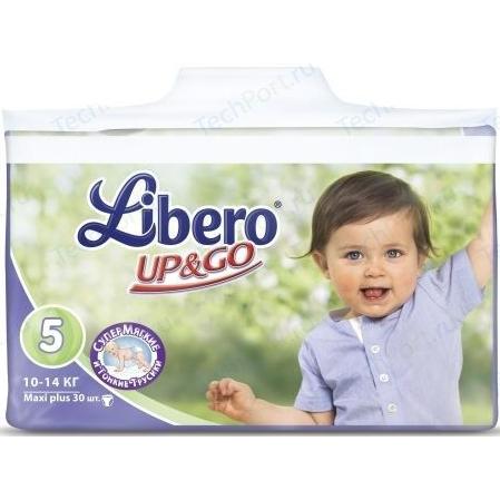 Трусики Libero Up&Go Океаническая коллекция эконом макси плюс 10/14кг (5) 30шт.