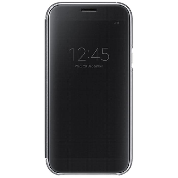 Чехол Clear View Cover для Samsung Galaxy A7 (2017) SM-A720F, черный