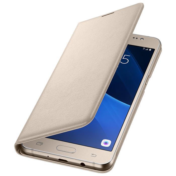 Чехол Samsung Flip Wallet для Galaxy J7 (2016) SM-J710FN, золотистый