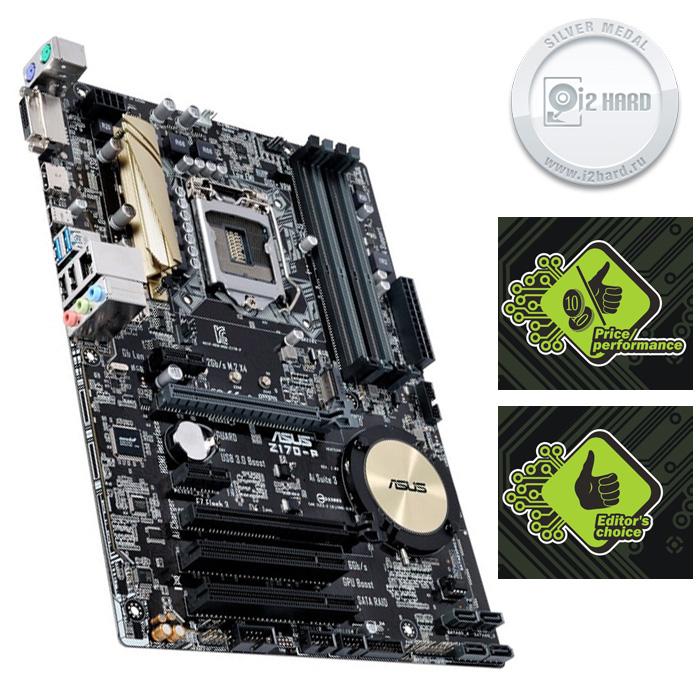 Материнская плата ASUS Z170 LGA1151 DDR4 ( Z170-P ) ATX, Ret