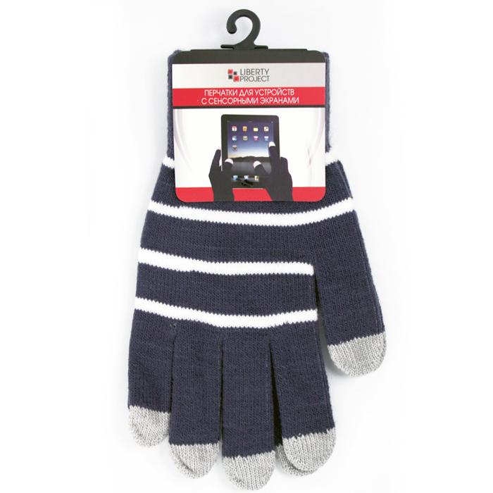 Перчатки для мобильных устройств Liberty цвет черные, с полосками, размер S