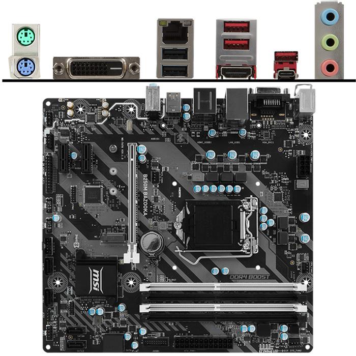 Материнская плата MSI B250 LGA1151 DDR4 ( B250M Bazooka ) mATX, Ret