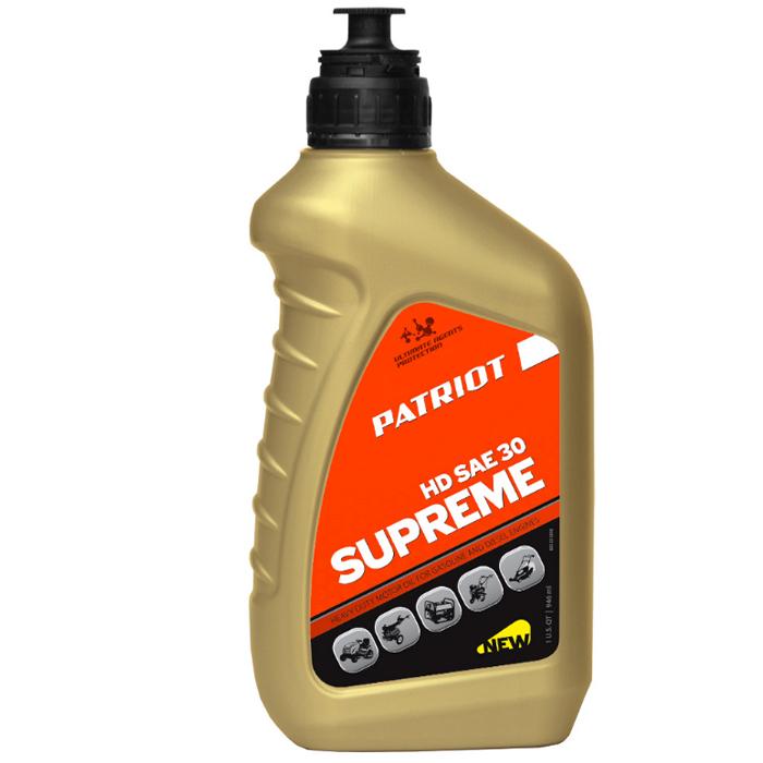 Масло 4-х тактное PATRIOT 850030598 Supreme HD SAE 30 4Т 0,946л