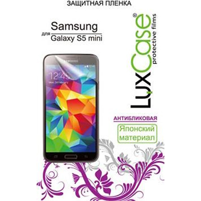 Защитная плёнка LuxCase для Samsung G800F/G800H Galaxy S5 mini LTE/Galaxy S5 mini Dual, антибликовая