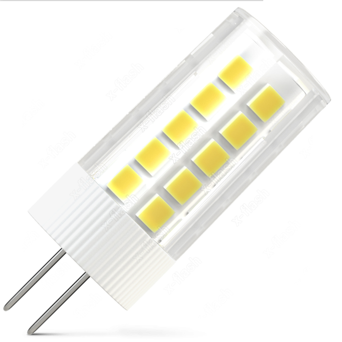 Светодиодная LED лампа X-flash Finger G4 3W 12V желтый свет, керамика