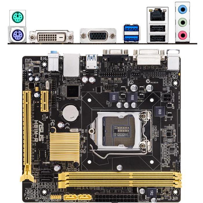 Материнская плата ASUS H81 LGA1150 DDR3 ( H81M-R/C/SI ) mATX