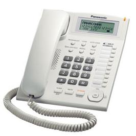 Телефон PANASONIC KX-TS2388RUW с АОН, белый