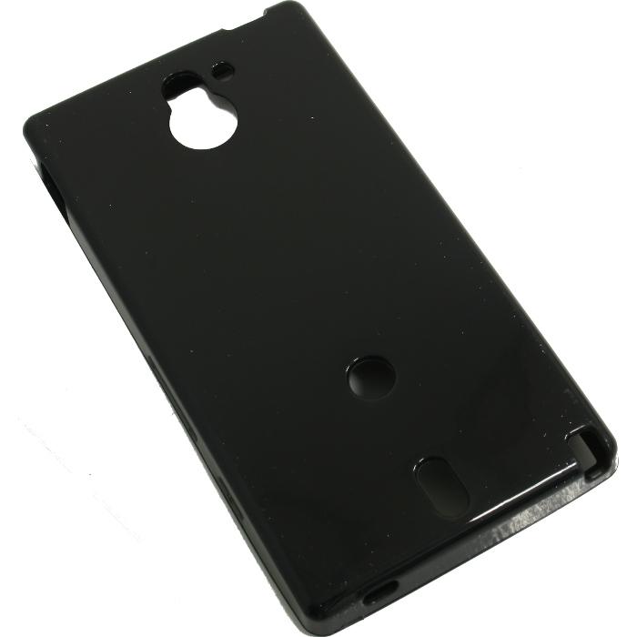 Чехол для Sony Xperia Sola MT27i Muvit Minigel пластик черный