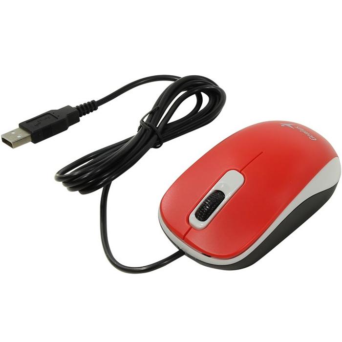 Мышь Genius DX-110 USB Red оптическая, проводная