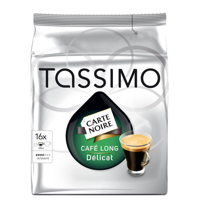 Капсулы Tassimo Carte Noire Cafe Long Delicat 16шт